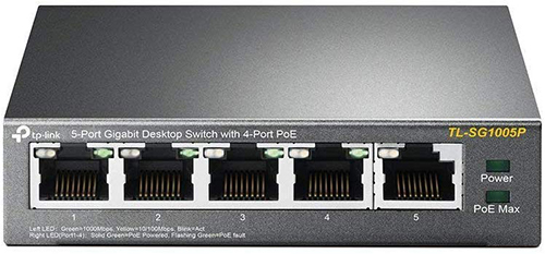 Best PoE Switches for IP Cameras - TP-Link TL-SG1005P