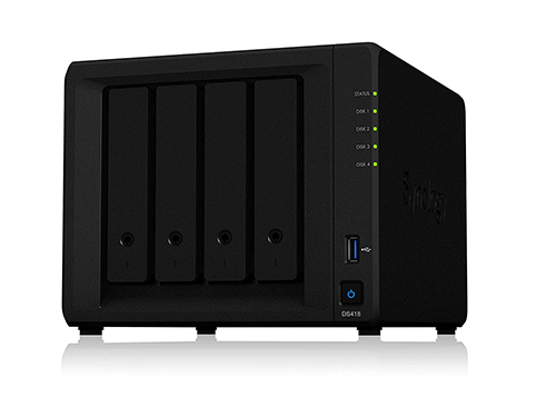 Best NAS for Home Surveillance - Synology 4 Bay NAS DiskStation DS418