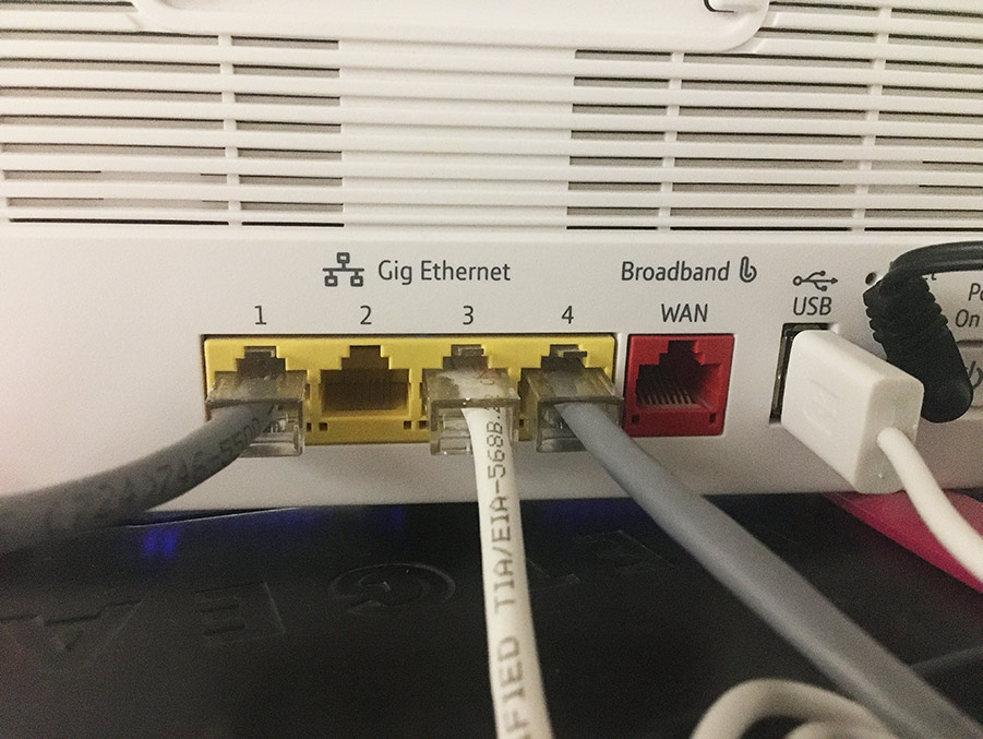 back of router